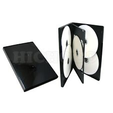 10 Standard 14mm Multi Hold 6 Disc Six CD DVD Black Case Movie Box Wholesale