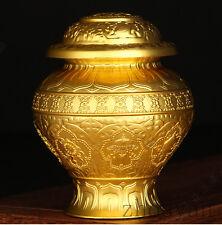 12cm TIBETAN BUDDHISM ALTAR MUST! GOLD HOLY BOTTLE WISH FULFILLMENT TREASURE POT