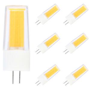 6er G4 LED 4W Lampe Birne COB Chip 3000K Warmweiß, 300LM,AC DC 12V