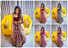 e2fdfb16e6 Wedding Lehenga Choli New Style Designer Heavy Embroidery Lengha Dupatta MA