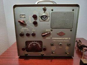 Gonset Communicator II Vintage 2 Meter Ham Transceiver With Crystals