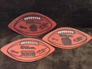 San Francisco 49ers SUPER BOWL WILSON LEATHER FOOTBALL DISPLAY Lot  XXIV XXIX