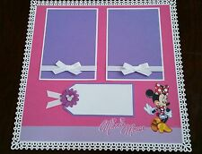 """Disney Minnie Mouse Scrapbook Page 12""""x12"""" Layout Shadow Box or Frame for Gift"""
