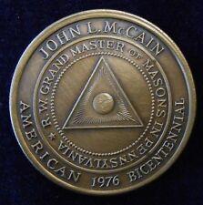 John L. McCain R.W. Grandmaster of Masons Coin