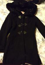 Krisp Womens Duffle Black Coat