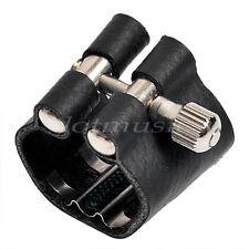 Soprano Saxophone Ligature Sax Accessories Black Leather