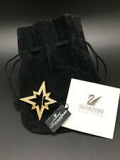 Swarovski Crystal Moravin Style Oblique Star Brooch Pin #113169 - New w/Tag +Bag