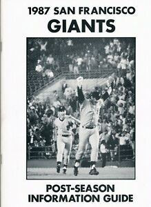 1987 San Francisco Giants Official Post Season Guide Will Clark Bob Melvin