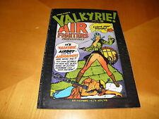 Fred Kida's Valkyrie Air Fighters Comics Al Toth Ken Pierce Reprint B&W 1982 FN-
