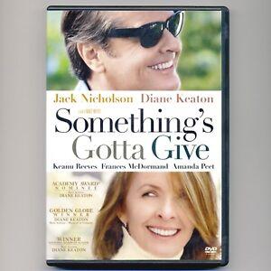 Somethings Gotta Give 2003 PG-13 romantic comedy, used DVD J Nicholson, D Keaton