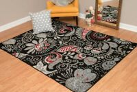 Red/Gray Floral Designer  5x8  area rug for the home