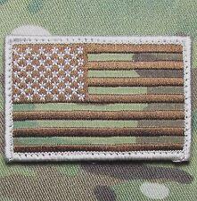 AMERICAN USA FLAG MULTICAM ISAF HOOK & LOOP MORALE BADGE PATCH