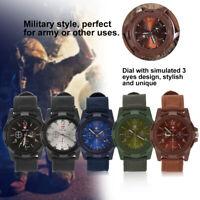 Mens Digital Alarm Date Military Sports Army Waterproof Quartz Nylon Strap Watch
