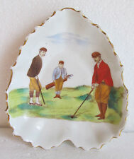CERAMIC ASHTRAY/CANDY DISH-CARLTON WARE-RED JACKETED GOLFER-GREAT CONDITION