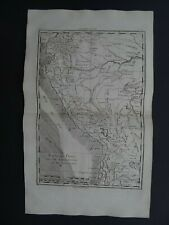 1780 Atlas map  PERU - Carte du Perou - Amazon - South America