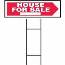 """HyKo 20408650 House For Sale (On Arrow) 10"""" X 24"""" - Corrugated Plastic"""