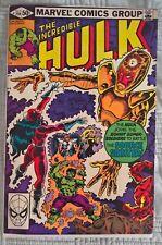 Incredible Hulk 259 Marvel Comics 1981 FN/VF 7.0 Buscema