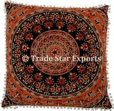 Large Indian Mandala Euro Sham Pillows Gypsy Cotton Cushions Ethnic Pillow Cases