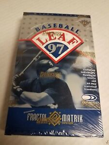 1997 Leaf  MLB Baseball Factory Sealed box 24 packs Fractal Matrix Die Cut?