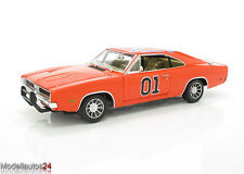 Auto World / Ertl Modellauto 1969 Dodge Charger, Dukes General Lee, Maßstab 1:18