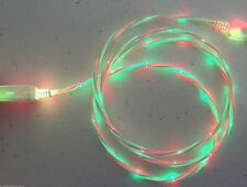 LED DUAL COLOR LIGHT USB El Cable charger FOR ALL MICRO-C TYPE REVERSIBLE PHONES