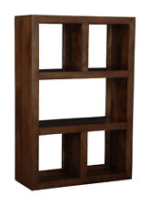 LIVING ROOM FURNITURE MANHATTAN DARK SOLID MANGO FURNITURE OPEN BOOKCASE (H31D)