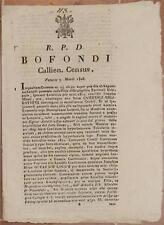 SENTENZA SACRA ROTA CAGLI URBINO CENSO VILLA DI GRAFOGLIETO ANTALDI MAZZI 1828