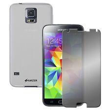 SAMSUNG GALAXY S5 TPU SOFT CASE COVER PROTECTOR MIRROR SCREEN PROTECTOR COMBO