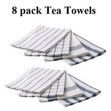 8 x IKEA stylish 100% cotton kitchen tea towel bulk  towels Brand New