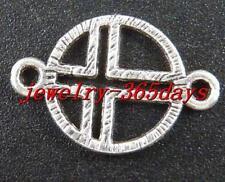 80pcs Tibetan Silver Ring Cross Connectors 21x14mm 10640