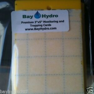 """25pc 3"""" X 5"""" Yellow Sticky Insect Traps, Thrips, Whiteflys, Aphids & More $SAVE$"""