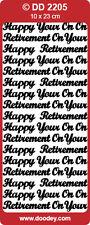 RETIREMENT - Doodey Stickers / peel offs ref DD 2205 - 1 gold & 1 silver