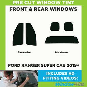 Pre Cut Window Tint - Ford Ranger Super Cab 2019 Full Kit