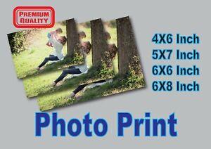 Personalised Photo Printing service Photograph Photo Print Borderless Glossy FP1
