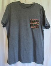 Vans Gray Short Sleeve Colored Pocket T Shirt Size Large EUC