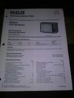 VINTAGE RCA TELEVISION TV MANUAL CHASSIS CTC 66 SERIES MODEL 450W ESTATE FIND