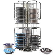 Modern Stylish 48 Coffee Pod Holder Revolving Capsule Stand Bosch Tassimo Pods
