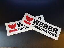 2 x Weber Carburetors Stickers Race & Rally Car Stickers.