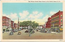 Widest Paved Main Street in the World in Keene NH Postcard