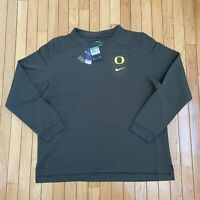 NWT $100 Nike Oregon Ducks Therma-Fit Pullover Sweater Mens Size XL CK5716-380