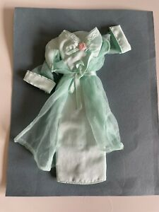 Barbie Vintage 90s Green Dress And Coat Outfit