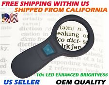 10 LED Bright Light Handheld Jewelry Magnifying Glass Reading Lens 4x Magnifier