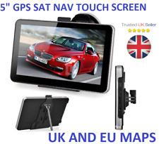 """8GB 5"""" Touch Screen Car GPS SAT NAV Navigation System FM Speedcam UK+EU maps"""