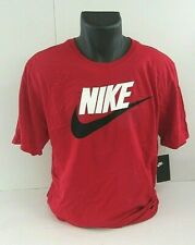 Nike Tshirt Red L Large for Men Sports Wear Dc8451-687 Logo Graphic
