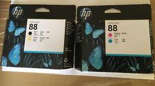 Genuina HP 88 los cabezales de impresión C9381A C9382A Negro Amarillo Cian & Magenta Vencido 2012+