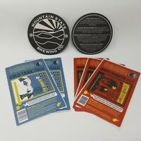 Mountain State Brewing Co. Coasters and Unused Beer Bottle Labels West Virginia
