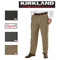 SALE! NEW! Kirkland Signature Men's Wool Pleated Dress Pant SIZE & COLOR F51