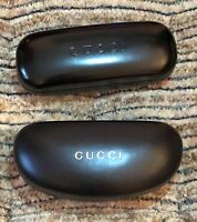 2 GUCCI, BLACK, GLASSES, HARD CASES, WITH CLEANING CLOTH
