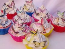 Butterfly Cake Topper Mixed Species 15pc Teddy Bears Picnic Mad Hatters Lolly