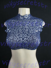 Victoria's Secret Dream Angels Blue Silver  Unlined Highneck Bra 34 DD NWT